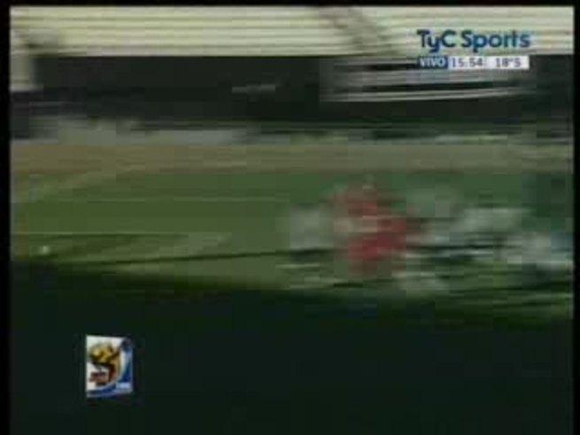 Mirá el gol de Maidana en el amistoso. (TyC Sports)