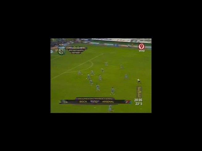 Mirá el primer gol en Primera de Araujo.