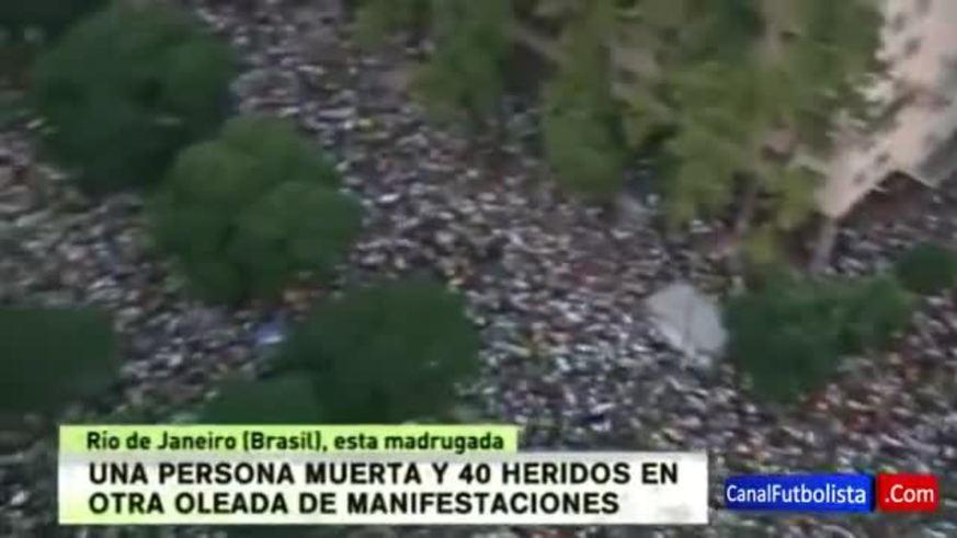 Las protestas en Brasil no cesan y ya hubo un muerto