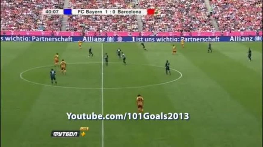 Ribery se calentó con Mascherano por una patadita