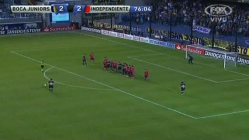 Golazo de Sánchez Miño y 3 a 2 para Boca (Youtube).