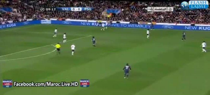 Mirá el gol de Lavezzi al Valencia.