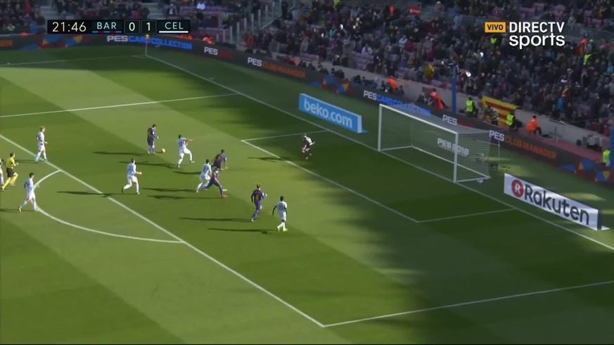 Messi lo empató para Barcelona
