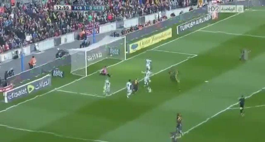 Mirá el 2-0 de Messi al Getafe.