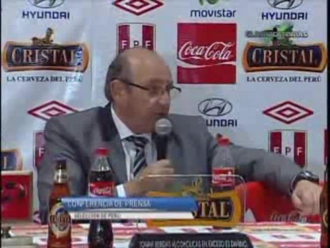 Mirá la conferencia de Markarian y el plantel peruano.