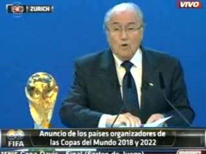 La designación de Rusia en la voz de Blatter. (ESPN).