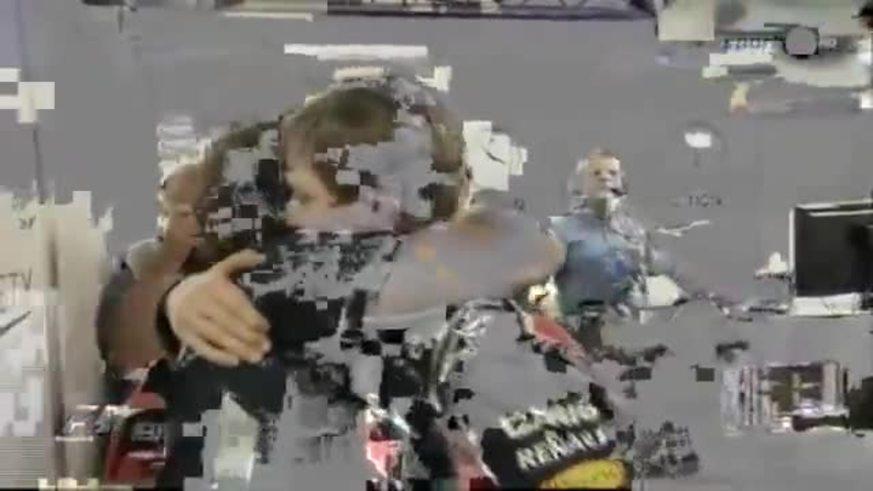 Sebastian Vettel y la emoción del título.