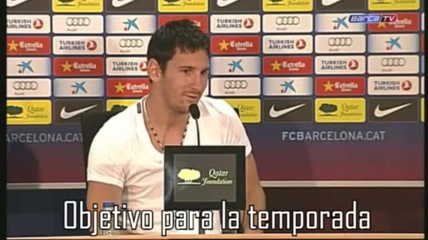 La conferencia de Messi en Barcelona.
