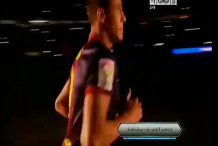 Mirá la ovación a Messi y la fiesta del Barsa.