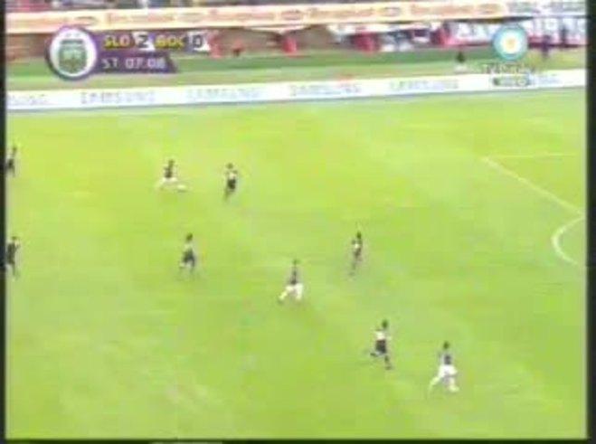 El gol y el bailecito de Bordagaray contra Boca.