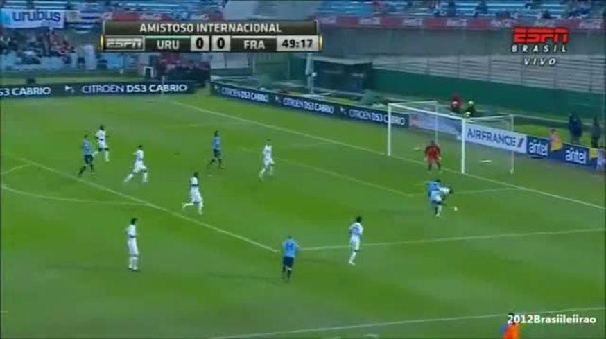 Golazo de Suárez ante Francia