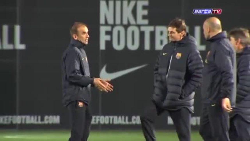 Messi llegó y se entrenó en la Ciudad Deportiva.