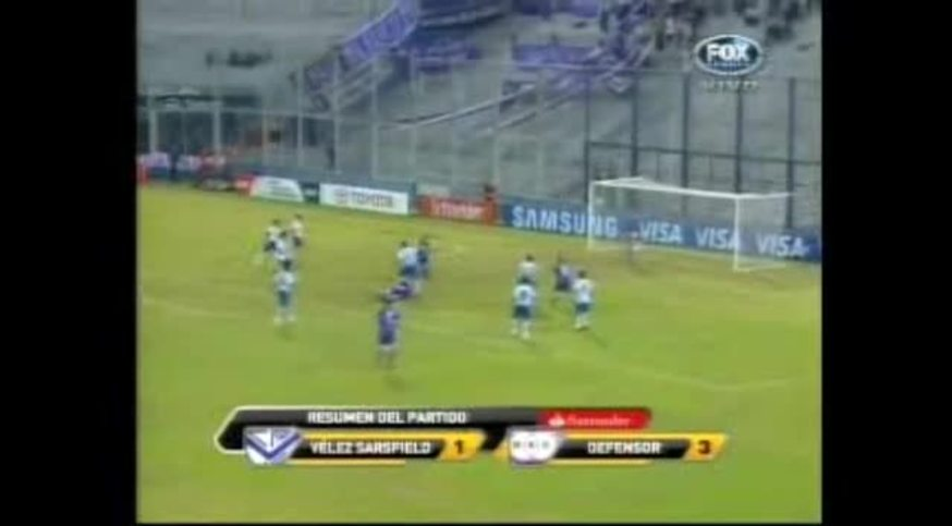 Mirá los goles de Vélez - Defensor Sporting (You Tube).