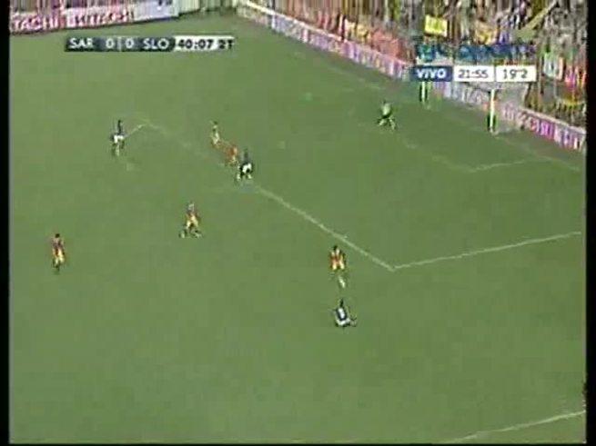 Mirá el gol de Aguiar para San Lorenzo.