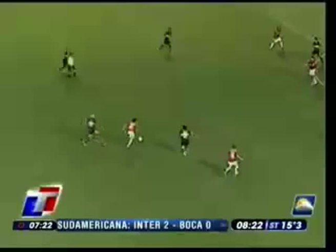 Los goles de Alex a Boca jugando en Internacional en 2008.