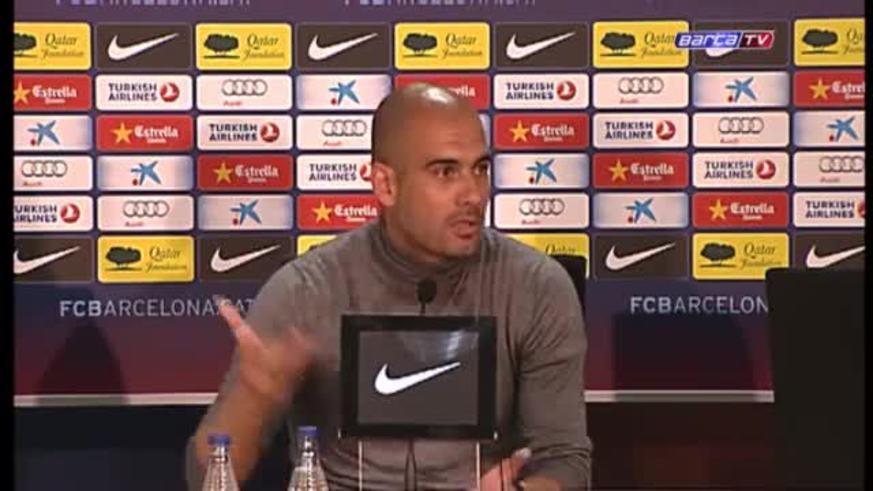 Guardiola habló antes del Getafe: