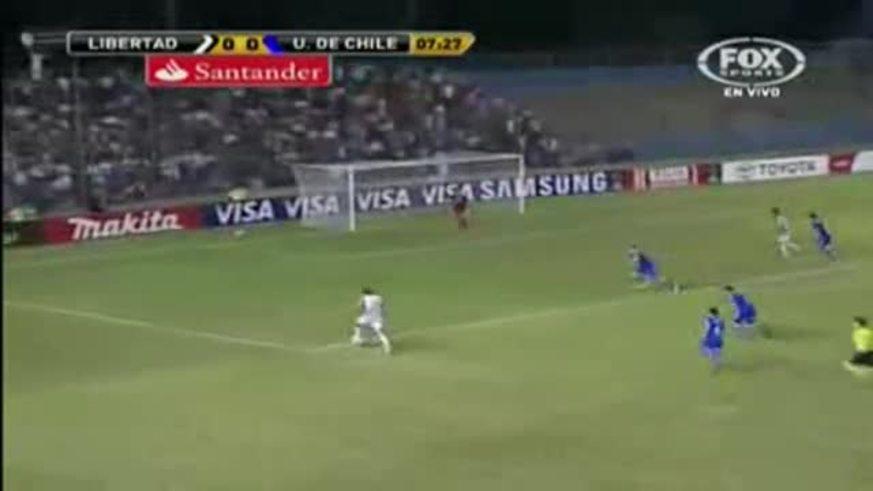 Los goles de Libertad 1 - U de Chile 1.