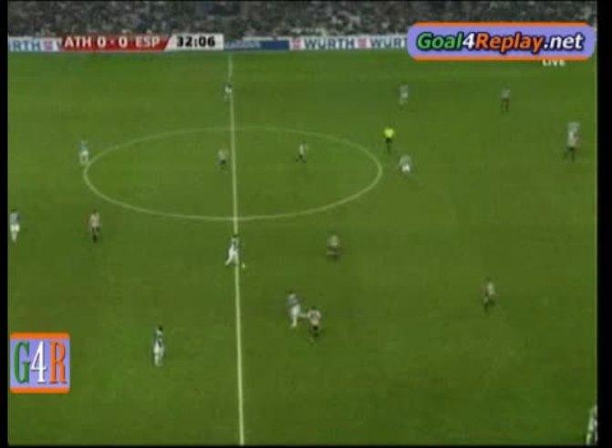 El gol de Osvaldo ante el Bilbao. (www.goal4replay.com).