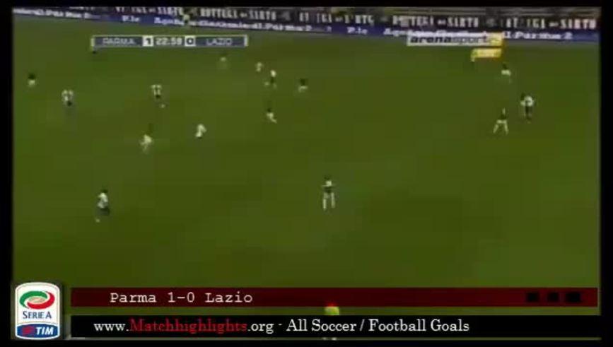 El gol de Hernán Crespo a la Lazio, por la 15° fecha del Calcio.