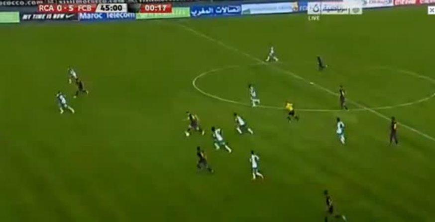 Mirá el tercero de Messi, el 5-0 del Barsa.