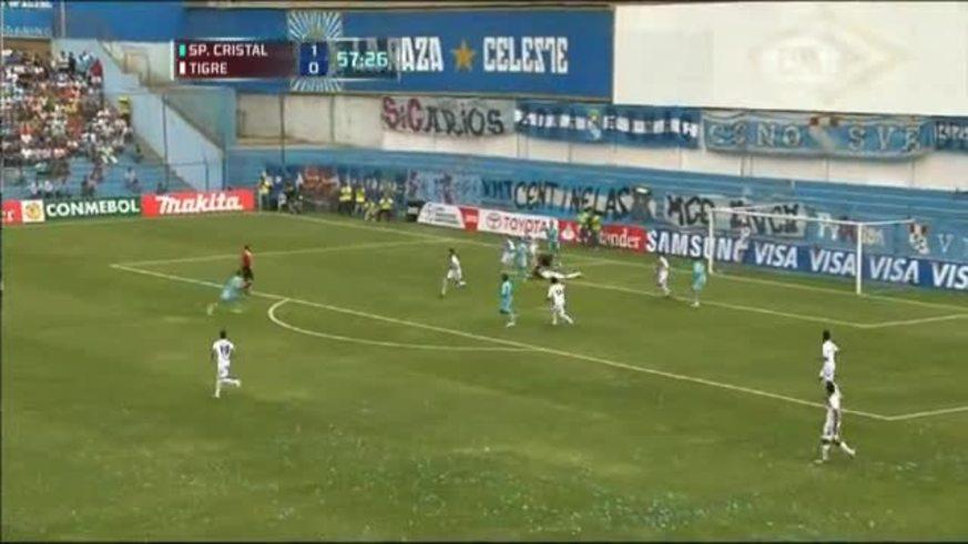 Lobatón Marcó el 2 a 0 para Sporting Cristal.