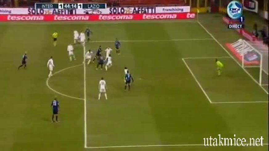 Mirá el gol de Milito a Lazio.