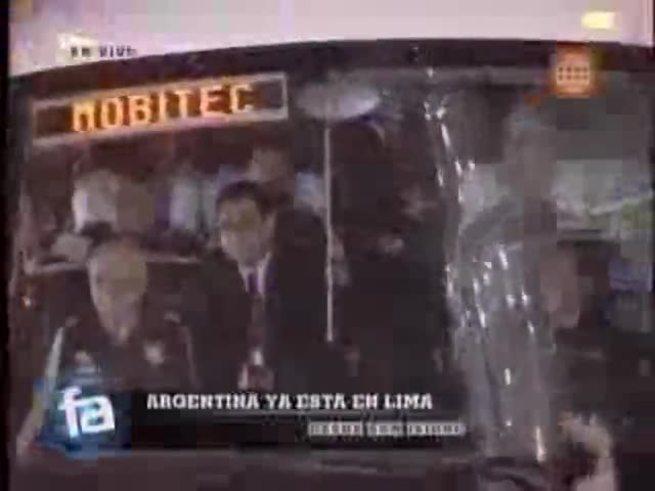 Así llegó la Selección a Lima.