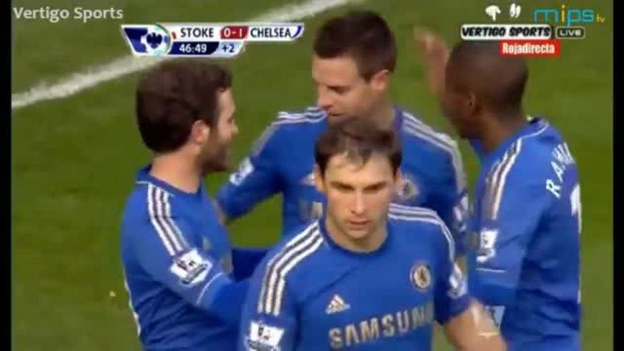 Los goles de Stoke City-Chelsea.