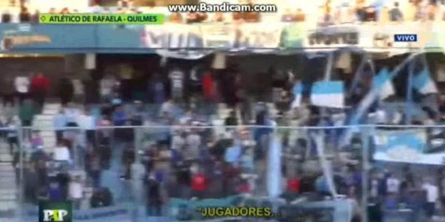 El particular cantito de la hinchada de Rafaela a sus jugadores (Paso a Paso)