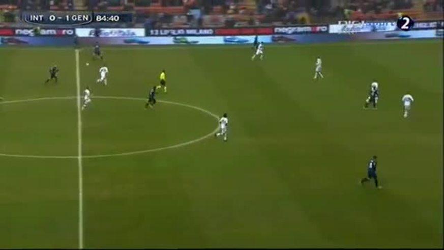 Mirá el gol de Cambiasso al Genoa.