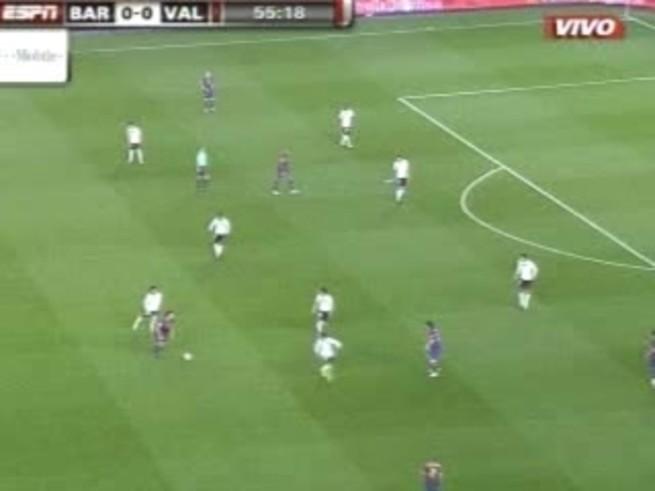 Messi tuvo una tarde soñada contra el Valencia.