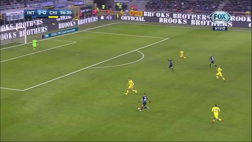 Perisic marcó el tercero del Inter