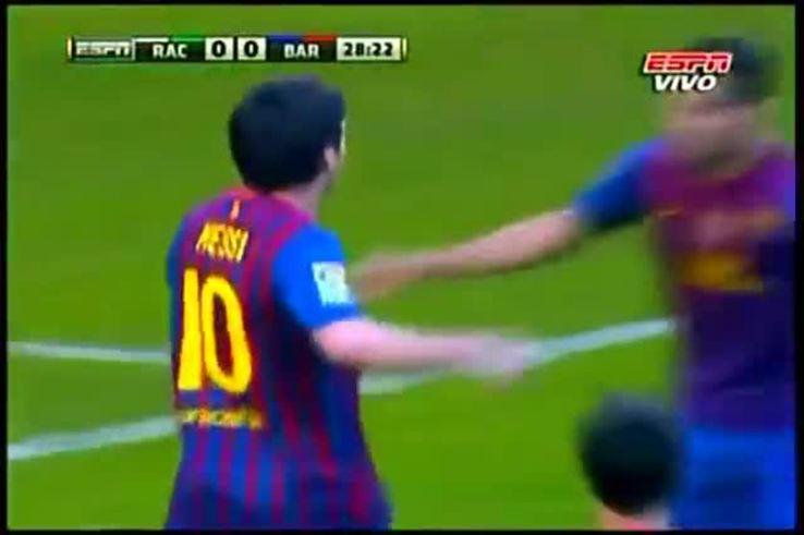 Mirá el primero de Messi al Racing de Santander.