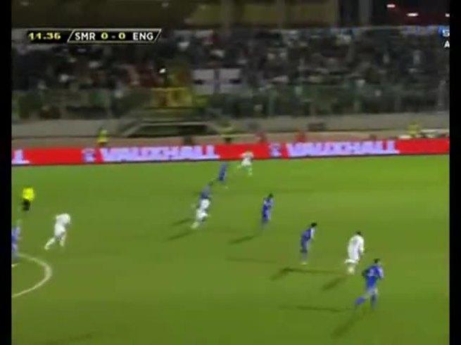 Inglaterra le metió ocho a San Marino como visitante.