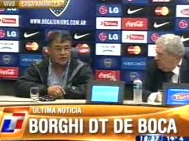 Mirá lo mejor de la conferencia del Bichi Borghi, nuevo DT de Boca.