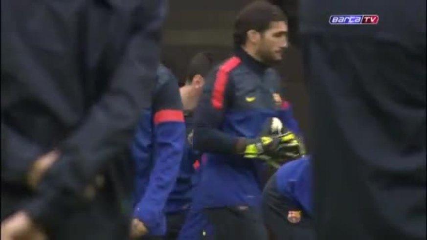 La práctica del Barcelona en Munich