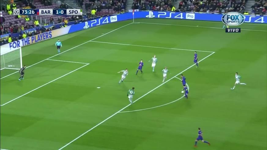 Messi remató desviado