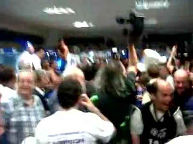 Así festejaron los jugadores de Vélez. (Olé)