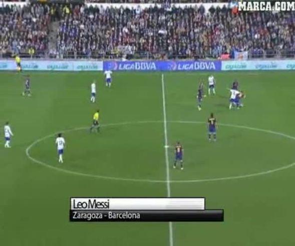 El golazo de Lionel Messi.