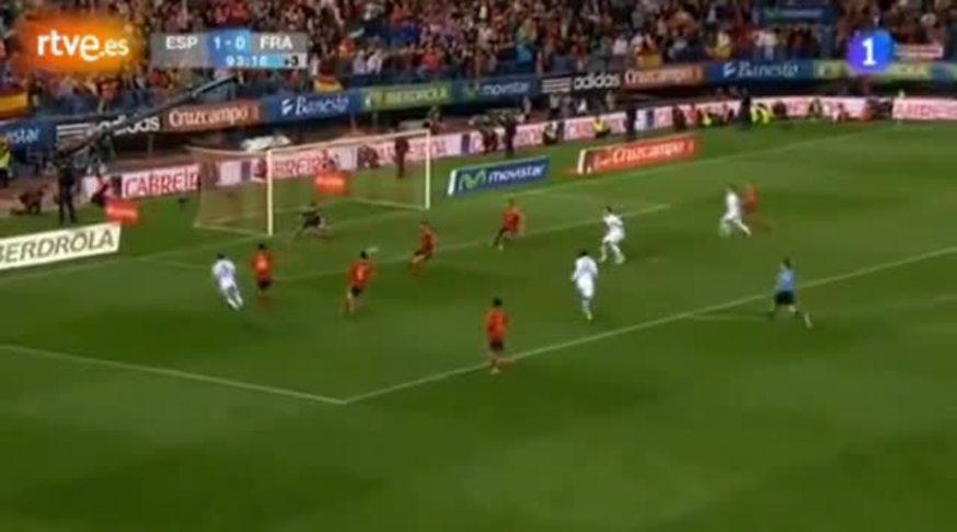 Mirá el empate de Giroud para Francia ante España.
