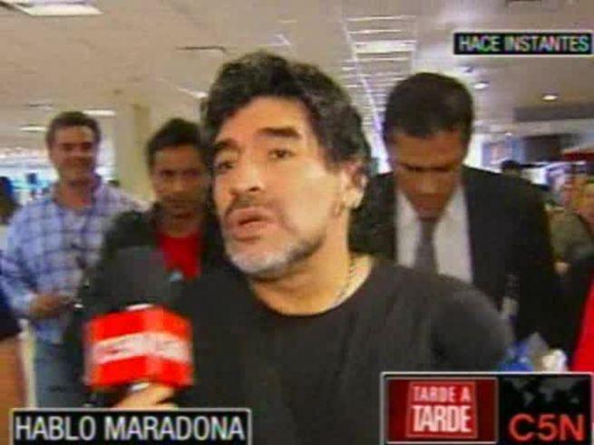 Maradona habló antes de viajar a China. (C5N)