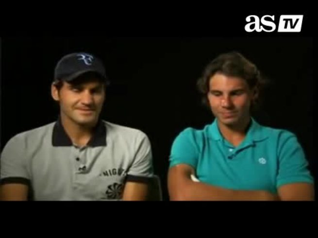 Mirá a Federer y Nadal a pura risa. (As.com)