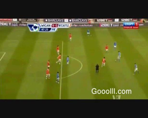 Mirá el golazo de Franco Di Santo en Wigan 4 - Newcastle 0.