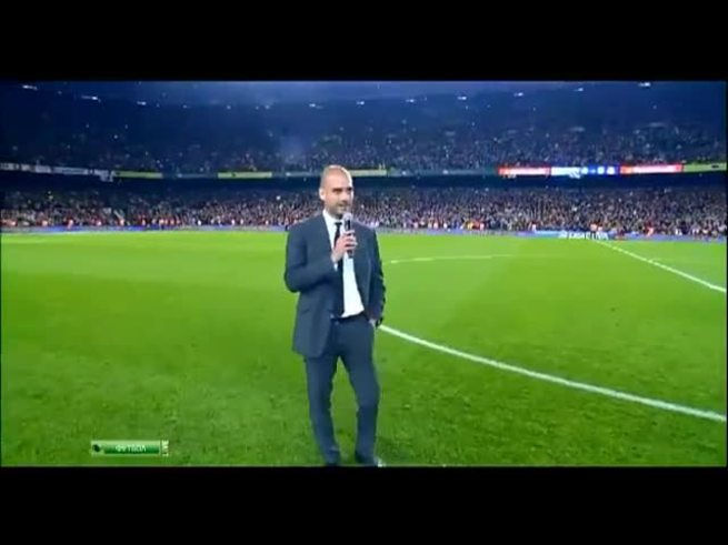 Mirá la despedida de Guardiola del Camp Nou.