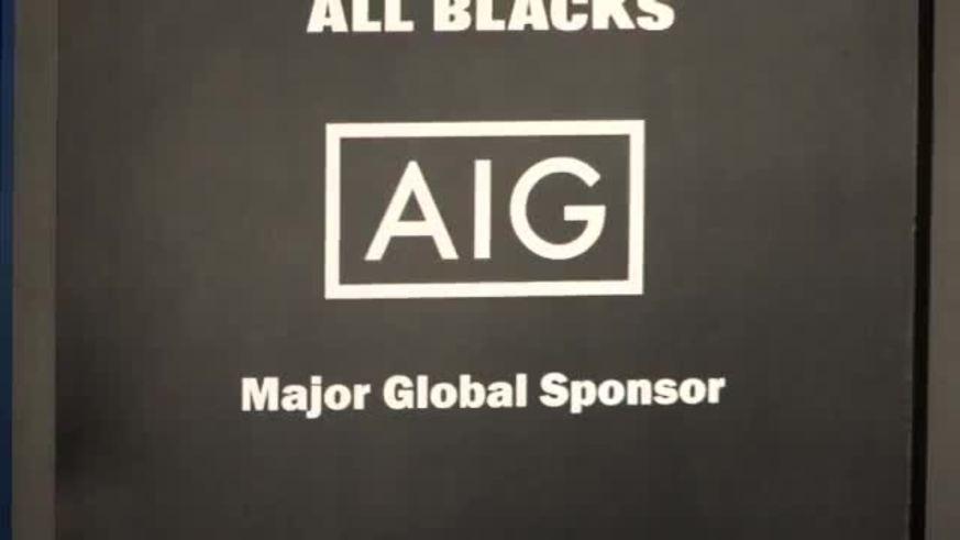 La camiseta de los All Blacks con sponsor.