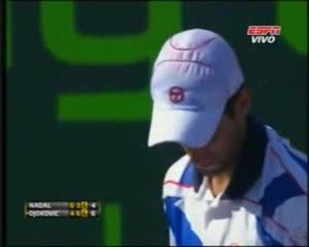 El último punto, el de la consagración de Djokovic (ESPN)