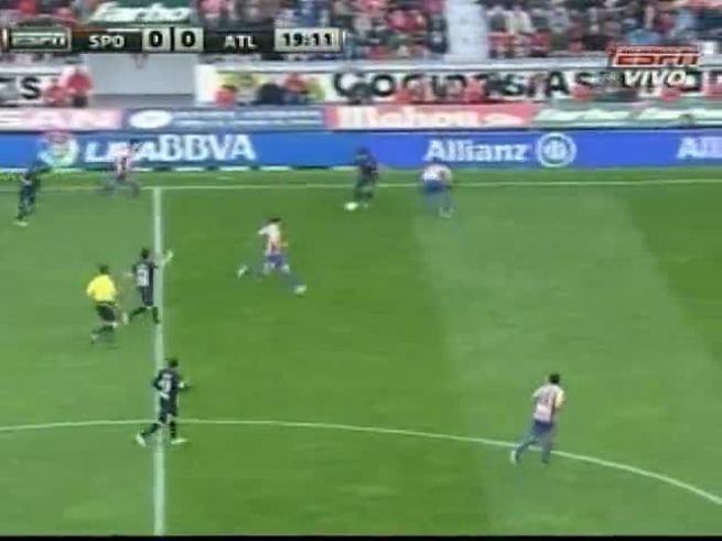El Atlético de Simeone empató con el Gijón.