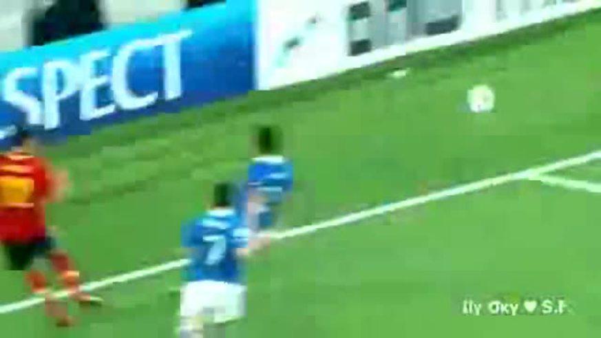 Los goles de España 4 - Italia 2