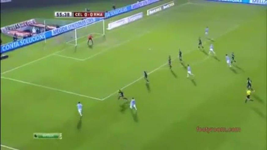 Mirá los goles de Celta 2 - Real Madrid 1.