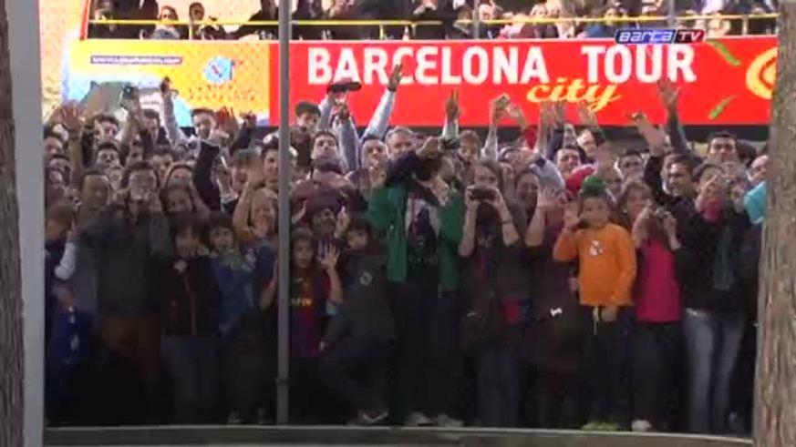 Messi se sumó a la concentración junto a sus compañeros.